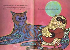 The Owl and The Pusscat  by Edward Lear  1969