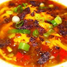 Hatch tortilla soup