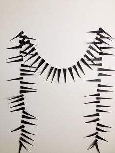 Spikes Garland Halloween Decoration Long Paper by GrayDayStudio