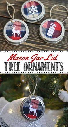 Diy christmas wreath ornament from a repurposed mason jar lid diy christmas tree ornaments to make solutioingenieria Choice Image