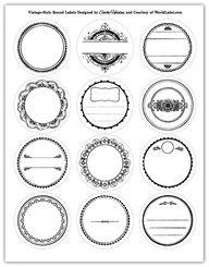 Round Labels in a vintage style design   Worldlabel Blog