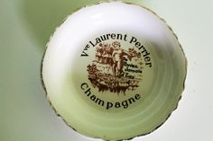Vintage Ceramic Porcelain Ashtray Made in France Champagne Advertising Laurent Perrier Plate by Grandchildattic on Etsy