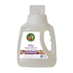 Baby Liquid Laundry Soap. This Baby Laundry Soap from Earth Friendly Products is a hypo-allergenic, everyday laundry soap containing only the highest quality ingredients. Gentle enough for baby's sensitive skin, it rinses thoroughly, leaving baby's laundry clean & soft. Plus it's plant-based, non-toxic & Eco-friendly.