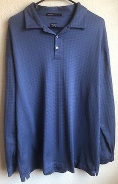 Tiger Woods Collection XL NIKE - Men's Shirt - Blue FIT DRY Long Sleeve Polo #golf #golfshirt #sports #poloshirt #polorugby #fashion #style #love #shopping #gifts #mensfashion #menswear #mensstyle #mensclothing