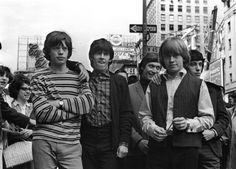 British rock group The Rolling Stones in NY. From left to right: Mick Jagger, Keith Richards, Charlie Watts, Brian Jones - and Bill Wyman. The Rolling Stones, Brian Jones Rolling Stones, Anita Pallenberg, Janis Joplin, Keith Richards, Mick Jagger, Jim Morrison, Jimi Hendrix, Kurt Cobain