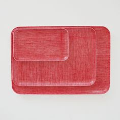 Linen Tray: Red Chambray