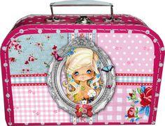 Kinderkoffertje felroze polkadot PIP  tutteleminka