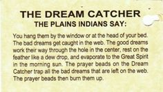 Dream Catchers And Their Meanings beautiful story to read to kids then hang a dreamcatcher in 6