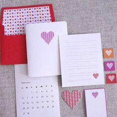 printable Valentines stationary