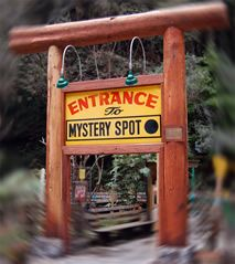Santa Cruz- The Mystery Spot is a gravitational anomaly located in the redwood forests just outside of Santa Cruz, California.  I've always wanted to go here!