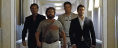 Justin Bartha, Bradley Cooper, Zach Galifianakis and Ed Helms in The Hangover