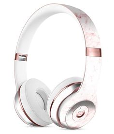 Pink Red Marble Surface Full-Body Skin Kit for the Beats by Dre Solo 3 Wireless Headphones