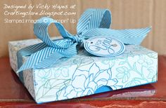 Stampin' Up ideas and supplies from Vicky at Crafting Clare's Paper Moments: The Stampin' Trimmer box - with video tutorial!