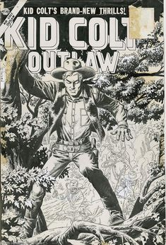 What's great about seeing John Severin's original art is seeing the 'corrections' or refinements he made to the art. It shows how much he cared about his work.