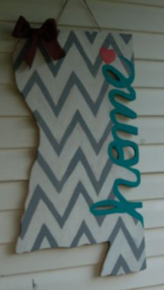 State Home door hanger by CutieCreations4you on Etsy, $60.00 Does not only Mississippi BUT ALL STATES!!!!