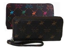 1f800042309 Beverly Hills Polo Club logo ladies wallet. Colors Black Brown Tan. MSRP   24.00. Price   6.75