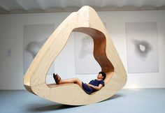 The Cloud House  The Cloud House by Chinese designer Yuan Yuan is a multifunctional furniture piece that triples as a rocking chair, a chair-bed and an armchair.