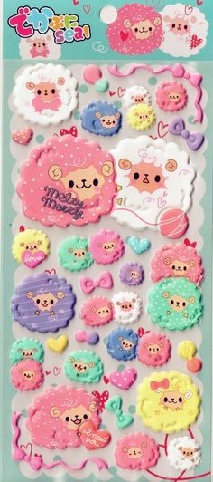 Cute Kawaii Sheep Stickers Japanese Stationery Pastel Alpaca Scrapbooking Craft