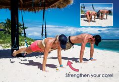 Strengthen your #core with this exercise from Nikki Fogden-Moore. #workout