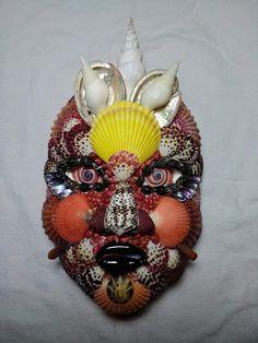 Sea Shells, Masks, Wreaths, Decor, Shells, Decoration, Door Wreaths, Seashells, Deco Mesh Wreaths