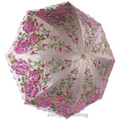 Nuevo para mujer de lujo bordado de encaje Anti Uv Sol Lluvia sombrillas Paraguas Plegable