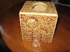 TISSUE BOX COVER Done by mosaickid, via Flickr
