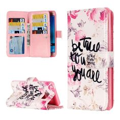 SUNSKY - For Samsung Galaxy J5 (2016) / J510 Be Ture to Who You Are Pattern Horizontal Flip Leather Case with 9 Card Slots & Wallet & Holder