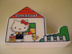 Vintage Hello Kitty Tape Dispenser from 1976 Sanrio. It had the cutest printed tape to go with it too!