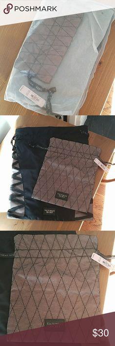Victoria Secret Lingerie Bags (Set of 2) NWT Victoria Secret Lingerie Bags  (Set of 2). Only taken out of plastic for photos. Victoria Secret Bags Travel Bags