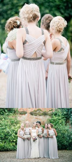 Special A-line Chiffon Long Bridesmaid Dress Wedding Party Dress