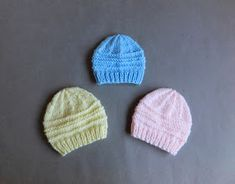Another simple but effective little baby hat pattern for you to try - months or medium preemie Happy knitting Casey Premature Baby Hat 0 - 3 Baby Cardigan Knitting Pattern Free, Crochet Baby Blanket Beginner, Baby Hats Knitting, Crochet Baby Hats, Baby Knitting Patterns, Free Knitting, Knitted Hats, Crochet Patterns, Crochet Edgings