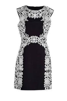 Beautiful Baroque Lace detailing on this LBD