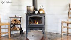 Wood Stove Lopi Burning Old Time Living Country Life Organic Natural Interiors Interior Design