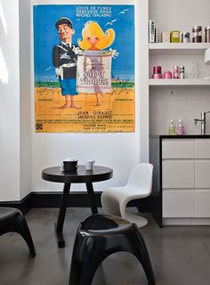 Colourlovers palettes paired with three colorful rooms in the Paris home of architect Anne Geistdoerfer of Double G Architecture. Colorful Interior Design, Colorful Interiors, Colorful Rooms, Jean Lefebvre, Double G, White Apartment, Parisian Apartment, Paris Home, Cute Poster