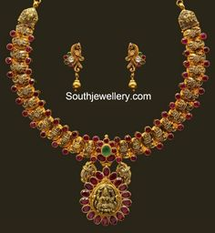 lakshmi motifs necklace