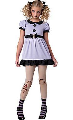 Teen Girls Dead Doll Costume