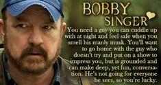 Supernatural Episodes, Bobby Singer, Cuddling, Mens Sunglasses, Guys, Feelings, Physical Intimacy, Men's Sunglasses, Sons