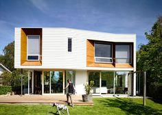 Preston Lane's house extension has faceted window recesses
