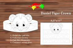 Daniel Tiger paper Crown Coloring Crown PDF Instant