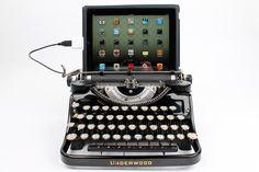 USB Typewriter Computer Keyboard -- Black Underwood Model F w/ Glass Keys by usbtypewriter on Etsy $799