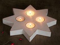 Lichterstern Teelichtstern Adventskranz