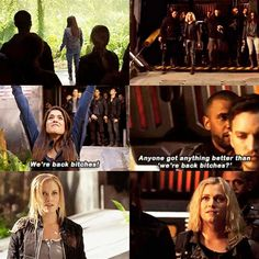 I love this scene so much 😂 TV Time - The 100 Bellarke, The 100 Book Series, Lexa E Clarke, The 100 Quotes, 100 Memes, The 100 Clexa, The 100 Show, Tv Times, Frases