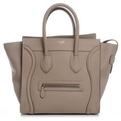 shop celine online - This is an authentic CELINE Pebbled Leather Mini Luggage in Lune ...