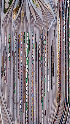 "automatic-bazooti: "" Bird's eve view of Inman Railroad Yard in Atlanta, GA [x] "" Train Miniature, Train Pictures, Random Pictures, Norfolk Southern, U Bahn, Old Trains, Model Train Layouts, Train Tracks, Aerial Photography"