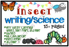 Insect [Writing and Science] Pack from Pioneer Teacher on TeachersNotebook.com -  (18 pages)  - 18 page insect writing/science pack