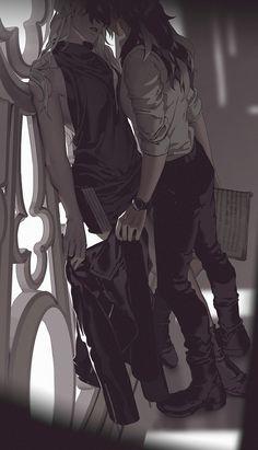 (1) Shilin (@Okolnir) / Twitter Cute Lesbian Couples, Lesbian Art, Lesbian Love, Gay Art, Anime Couples, Cool Anime Girl, Anime Art Girl, Manga Art, Anime Girlxgirl