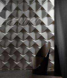 Пирамидки Панель гипсовая 3D модель Пирамидки подкупает своей кажущейся симметричностью расположения узоров, но на самом деле грамотно выстроенные кривые предлагаю гораздо больше, чем просто горизонтальное и вертикальное размещение — их уникальная форма позволяет вашей фантазии порхать над проблемой декорирования стен с лёгкостью мотылька: теперь не нужно ломать голову, как совместить между собой строгость и весёлость в интерьере — все проблемы решит данный вид панелей.