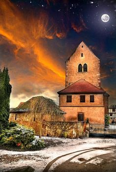 Under the Moon - Alsace, France -...