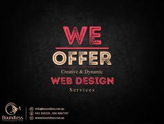 Boundless Technologies FZCO is the most experienced and professional Webdesigning company offers best and creative services in attractive web designs. If you need any trustworthy and established website designing firm in Dubai, choose Boundless Technologies liable work. Call us and make a web design for your #company now! 971 564067797, 971-043350229