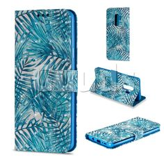 Banana Leaves 3D Painted Leather Wallet Case for Samsung Galaxy S9 Plus(S9+) - Leather Case - Guuds